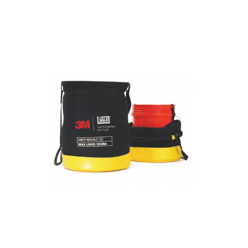 """Safe Bucket Rated Hook and Loop Canvas, Canvas, Black/Yellow, 20"""""""