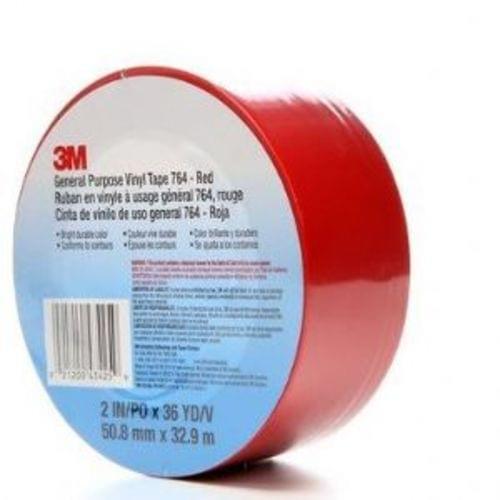 Vinyl Red Tape 2in x 36yd 5Mil, Q34645
