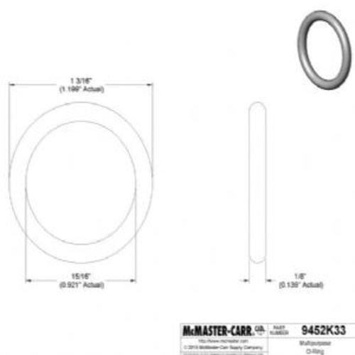 Oil-Resistant Buna-N O-Ring 1/8 Fractional Width, Dash Number 213