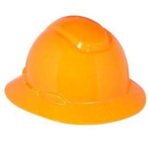 HARD HAT, FULL BRIM, 4PT. RATCHET, ORANGE