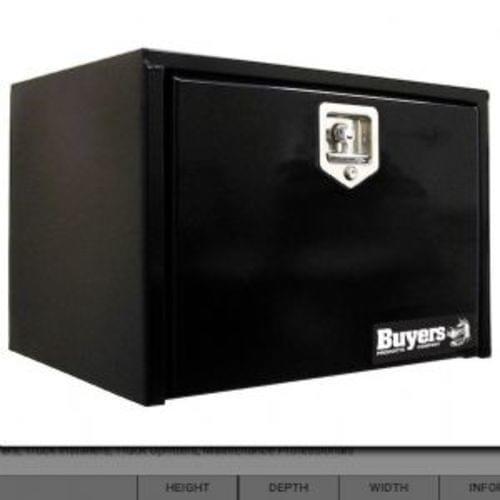 24x24x60 Inch Black Steel Underbody Truck Box