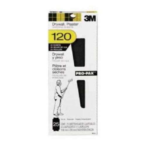 "3M 99430 Pro-Pak Drywall Sanding Sheets, 120 Grit, 4-3/16 "" x 11-1/4 "" (25 Pack)"