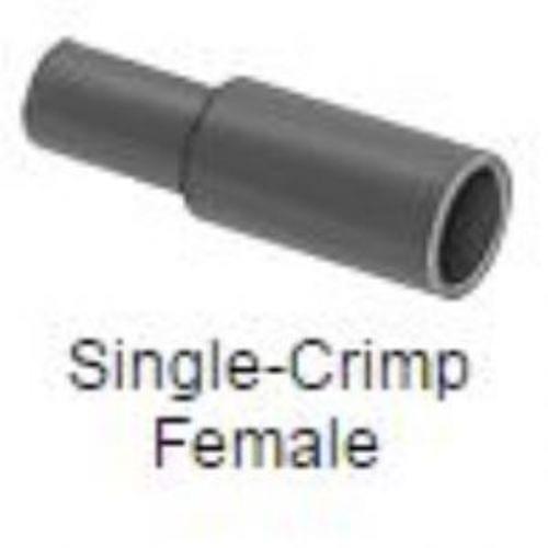 "Snap-Plug Terminals, Insulated, Single Crimp Female, for 16-14 Gauge, 0.18 "" Diameter"