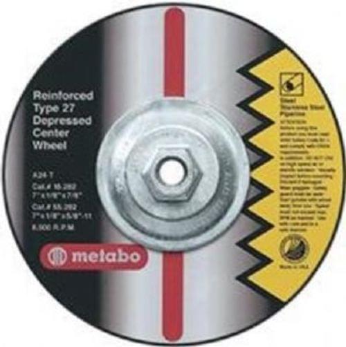 Metabo 4''X1/8''X3/8'', Type 27 ZA24T Zirconia Alumina Pipeline Grinding/Notching/Cutting Wheel