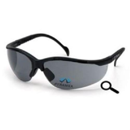 Pyramex V2 Readers, Gray +1.5 Lens, Black Frame, Safety Glasses