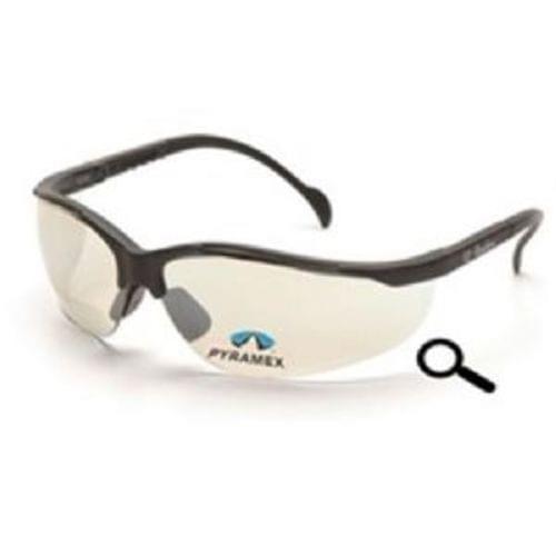 Pyramex V2 Readers, Indoor/Ourdoor Mirror +1.5 Lens, Black Frame, Safety Glasses