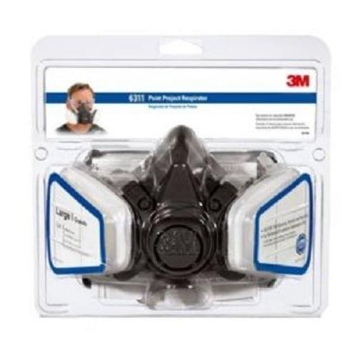 3M Tekk Protection Paint Project Respirator, Large, 4 Pack (54252)