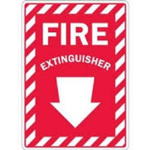 "7 "" X 10 ""  ""FIRE EXTINGUISHER "" (with Arrow Down)  Surface Mount Sign"