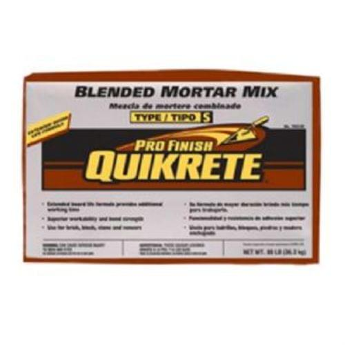 Quikrete Pro Finish Gray Type S Mortar Mix,  80 lb. Bag