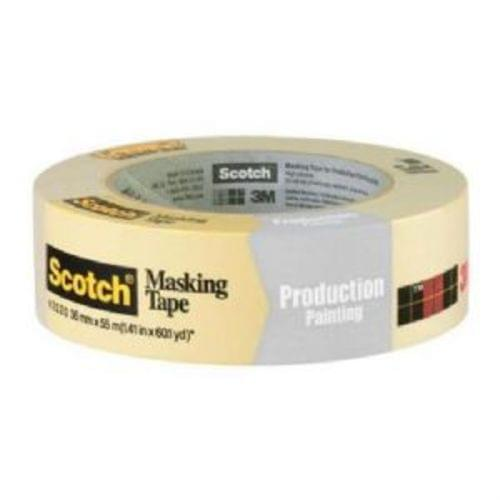 "3M Scotch 2020-36A General Purpose Masking Tape, 1-1/2 "" x 60yd, (71107)"