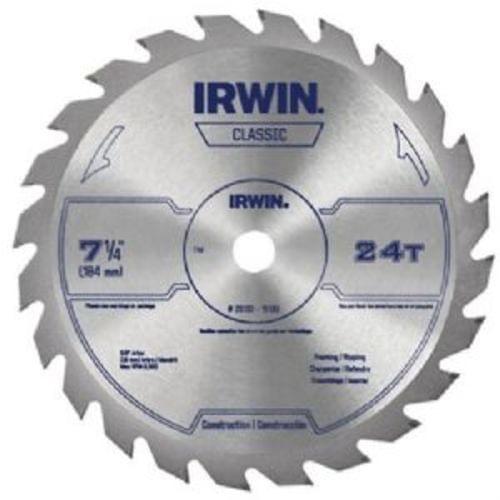 """IRWIN Classic Series Circular Saw Blade, 7-1/4 """""""