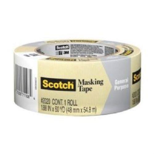 """3M Scotch 2020-48A General Purpose Masking Tape, 2 """" x 60yd, (71108)"""