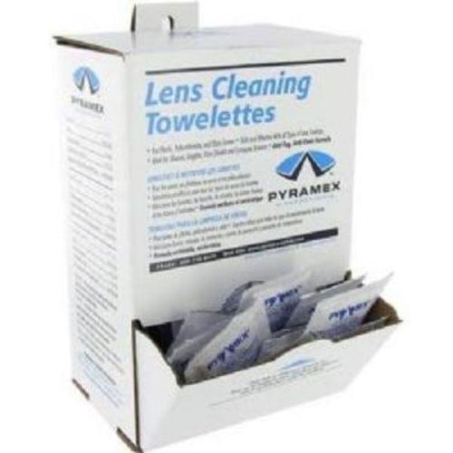 Pyramex Lens Cleaning Towelettes, 100 per box