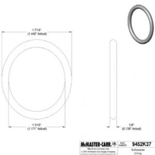 Oil-Resistant Buna-N O-Ring 1/8 Fractional Width, Dash Number 217