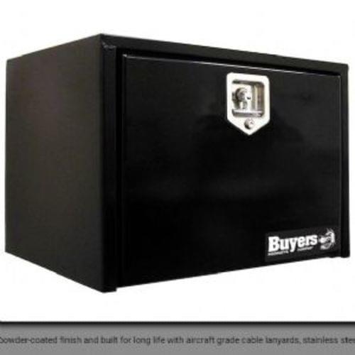 18x24x48 Inch Black Steel Underbody Truck Box