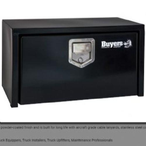 14x12x24 Inch Black Steel Underbody Truck Box With Slanted Back