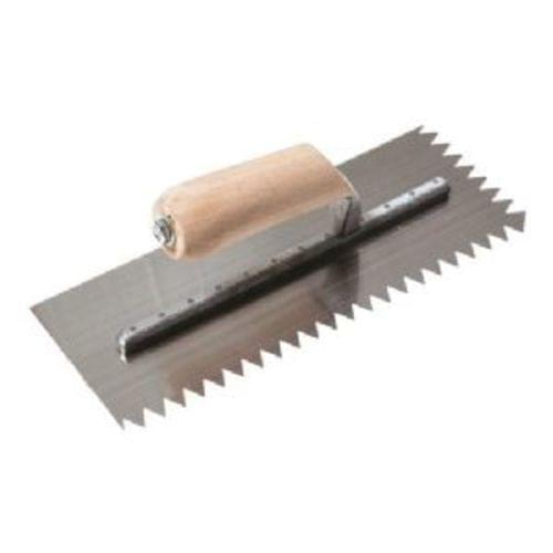 "Seymour Midwest 4-1/2 "" x 11 "" x 1/2 "" V-Notched Trowel"