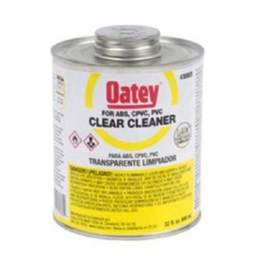 32 oz. Oatey Clear Cleaner for ABS, PVC   CPVC