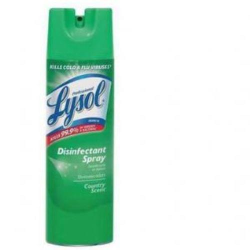 Disinfectant Spray Spring Country Scent 19oz. , 12 Cans, Q45509
