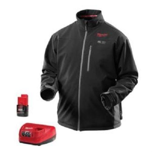 M12 Cordless Black Heated Jacket Kit (2XL)