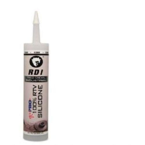 Pro Industrial Grade Rtv 100% Silicone Sealant, Clear, 1 Cartridge