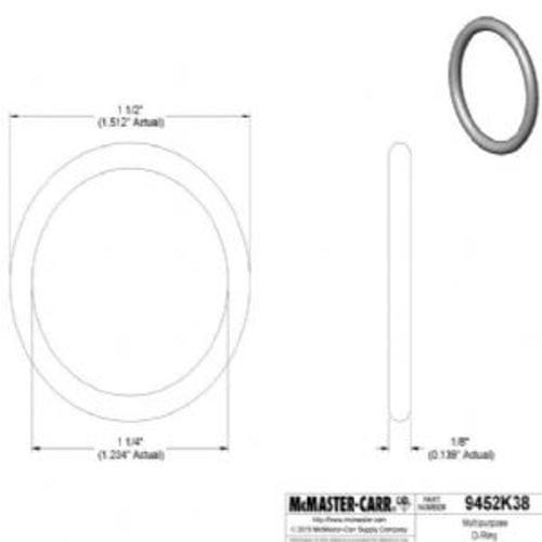 Oil-Resistant Buna-N O-Ring 1/8 Fractional Width, Dash Number 218