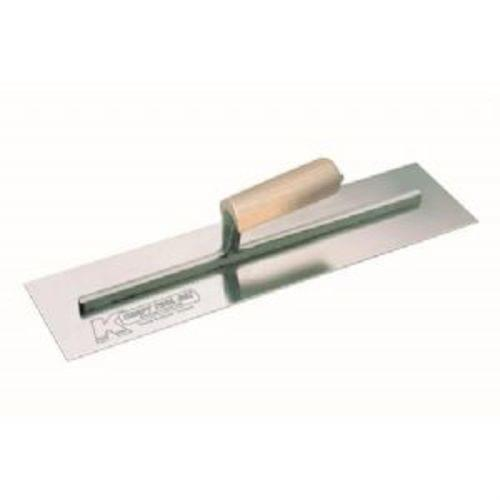 "Kraft Tool 14 "" x 3 "" Cement Trowel with Straight Wood Handle"