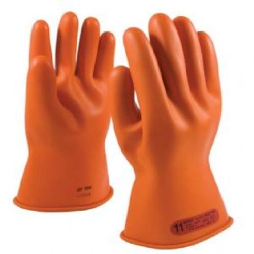 """Novax Class 0 Rubber Insulating Glove with Straight Cuff - 11 """", Size 8"""