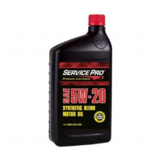 Service Pro 5W-20 Synthetic Blend Motor Oil, Quart (SPL00231)