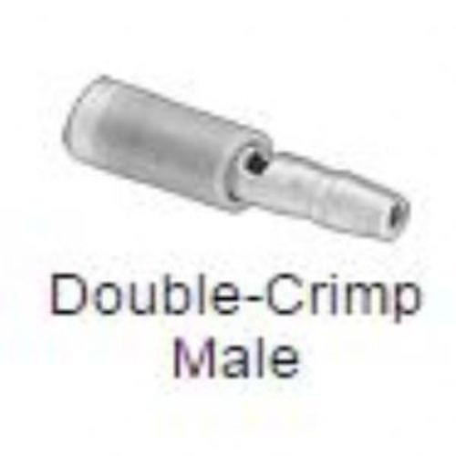 "Snap-Plug Terminals, Insulated, Double Crimp Male, for 16-14 Gauge, 0.156 "" Diameter"