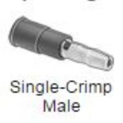 "Snap-Plug Terminals, Insulated, Single Crimp Male, for 16-14 Gauge, 0.18 "" Diameter"