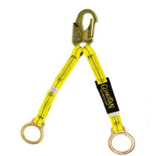 18 #34; NON-SHOCK ABSORBING EXTENSION LANYARD, Double Leg, Steel Snap Hook