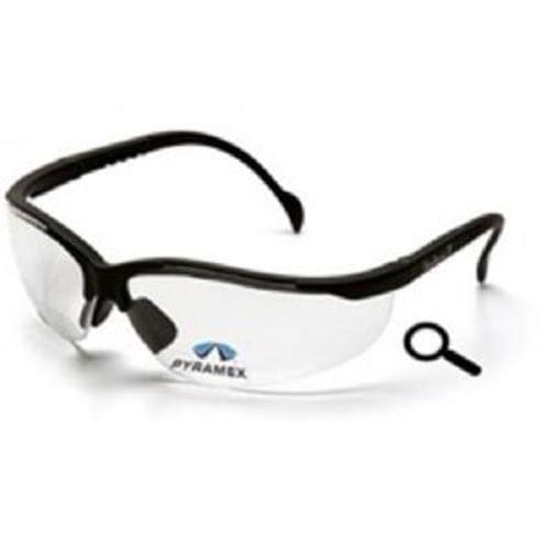 Pyramex V2 Readers, Clear +2.0 Lens, Black Frame, Safety Glasses