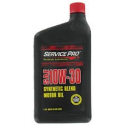 Service Pro SAE 10W-30 Synthetic Blend Motor Oil, Quart (SPL00286)