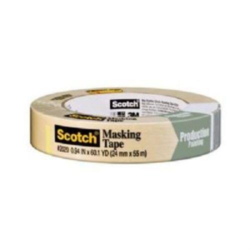 """3M Scotch 2020-24A General Purpose Masking Tape, 1 """" x 60yd, (71106)"""