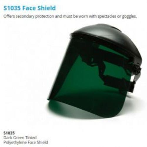 Pyramex Dark Green Tinted Polyethylene Face Shield