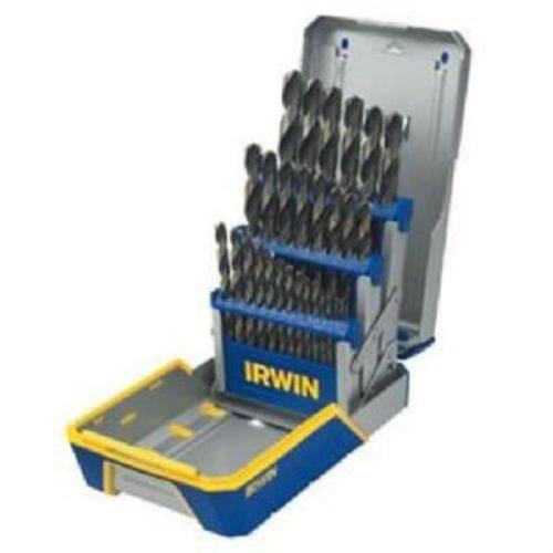 Irwin 3018005 29-Piece Black  38; Gold Metal Index Drill Bit Set