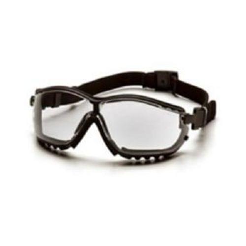Pyramex V2G Safety Goggles, Clear Lens, Black Frame