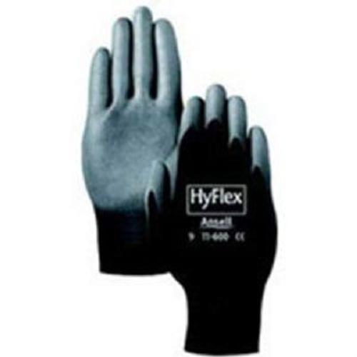 Ansell Hyflex Lite Polyurethane Gloves, Size 9, Black