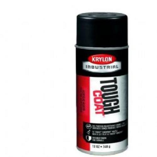 Krylon A03725 16-Oz. Tough Coat Semi-Flat Black Acrylic Ena