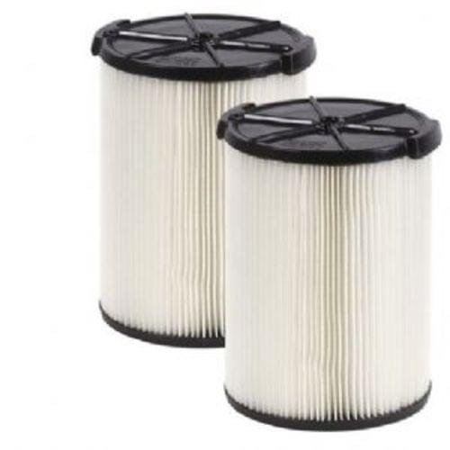 1-layer Everyday Dirt Pleated Paper Filter for 5.0 Plus Gal Wet Dry Vacs