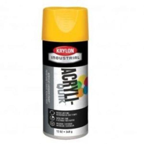 KRYLON OSHA Spray Paint in Gloss Safety Yellow for Iron, Metal, Paper, Wood, 12 oz.