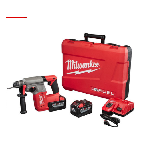 Milwaukee 2712-22HD M18 FUEL 9.0 Ah Cordless Lithium-Ion 1 in. SDS Plus Rotary Hammer Kit