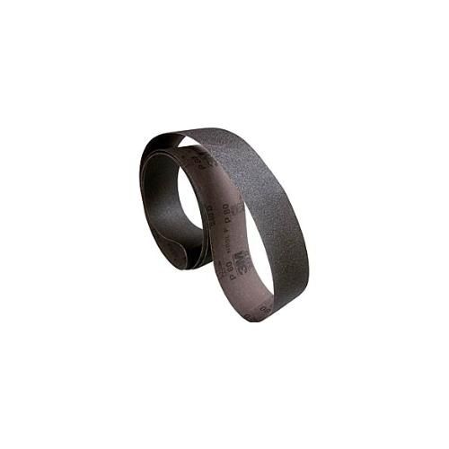 """3M Three-m-ite 2-1/4"""" (57mm) x 80"""" (2032mm) X-Cloth Film-Lok Sanding Belt - 80 Grit (50 Belts Per Box)"""