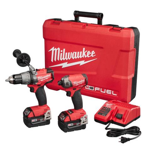 Milwaukee 2899-22 M18 FUEL 5.0 Ah Cordless Lithium-Ion 2-Tool Combo Kit