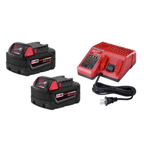 Milwaukee 48-59-1850P M18 5.0 Battery Starter Kit (2-Pack)