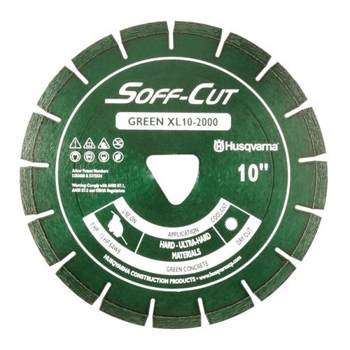 Husqvarna 542756101 XL10-2000 Excel 2000 Series Blade & Skidplate, Green