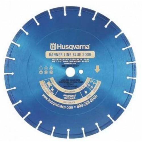 "Husqvarna 16"" Standard Blue 200B Banner Line Hard Concrete Wet Saw Blade-542751034"