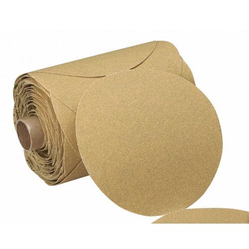 "5"" Coated Sanding Disc Roll, Non-Vacuum, 80 Grit, Coarse Grade, Aluminum Oxide"