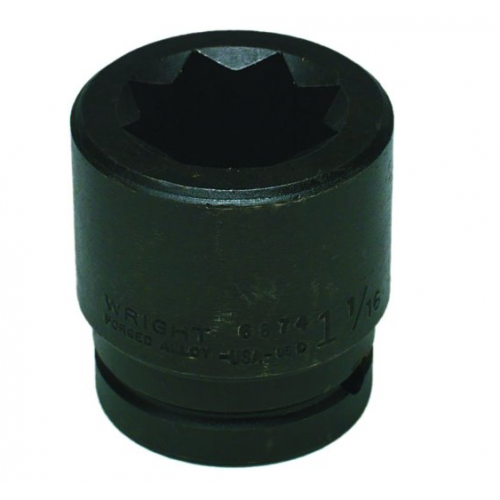 Wright Tool #6876 8-Point Double Square Impact Railroad Socket
